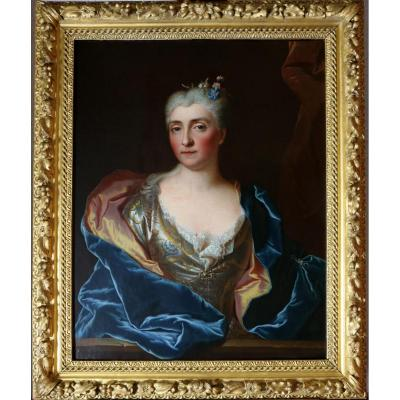 Hyacinthe Rigaud (1659-1743) Workshop Or Circle De-porter Of A Lady Of Quality