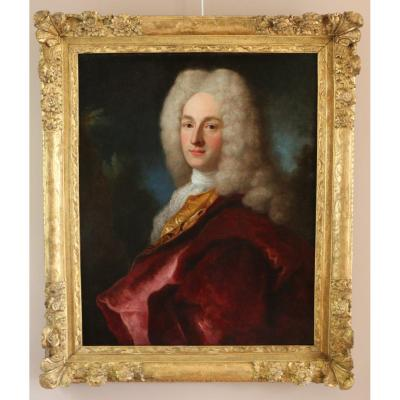 Henri Millot (died In 1759) Pupil Of Nicolas De Largillières-attributed- Portrait-first Third Of The Eighteenth Century.