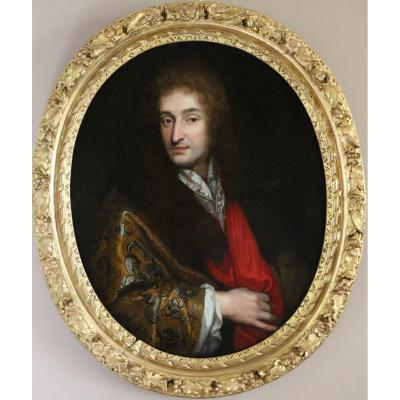 Pierre Mignard (1612-1695) -attributed-portrait Of A Gentleman Around 1680
