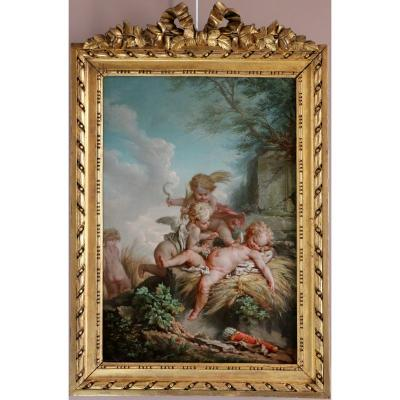 Jean-baptiste Huet (1745-1811) Attributed To The Allegorical Scene