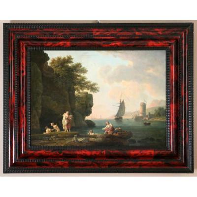 Atelier De Joseph Vernet (1714-1789)-les Baigneuses-traces De Signature