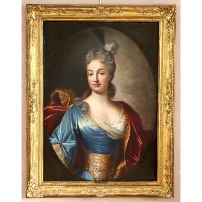 Nicolas De Largillière (1656-1746) And Workshop-portrait Of A Young Lady Of Quality Around 1700.