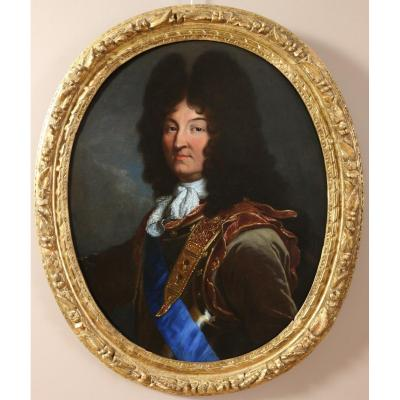 Hyacinthe Rigaud (1659-1743) And Workshop- Portrait Of Louis XIV (1694 Version)