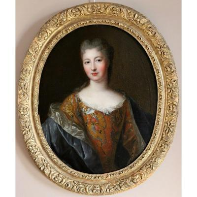 Presumed Portrait Of Françoise Marie De Bourbon Attributed To Pierre Gobert (1662, 1744) And Workshop