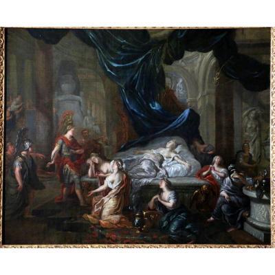 Gérard De Lairesse (1641-1711) Et Atelier – La Mort De Cléôpatre