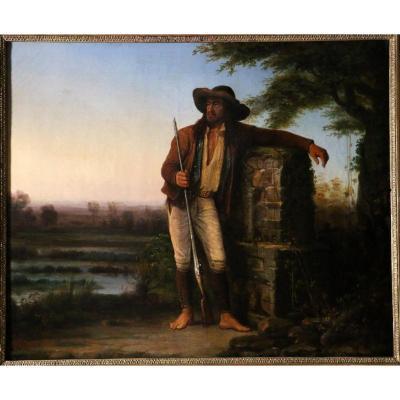 Pierre Bonirotte (1811-1891) Attribué-Le Chouan