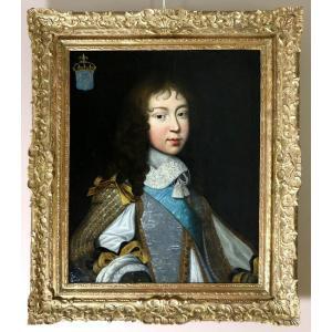 Portrait De Louis XIV Enfant,  Vers 1646. Louis Ferdinand II Elle l'ancien (1612; 1689) Attribué.