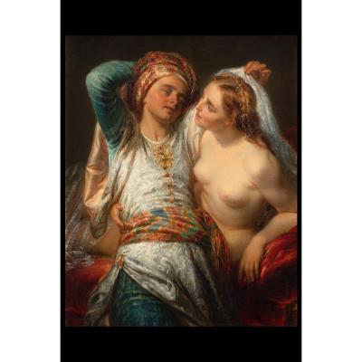 Peinture Orientaliste De Giulio Carlini