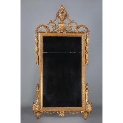 Miroir Toscan Louis XVI En Bois Doré
