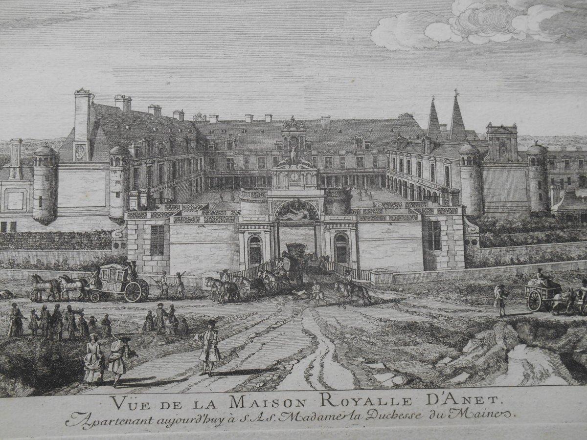Gravure ,château d'Anet 1730