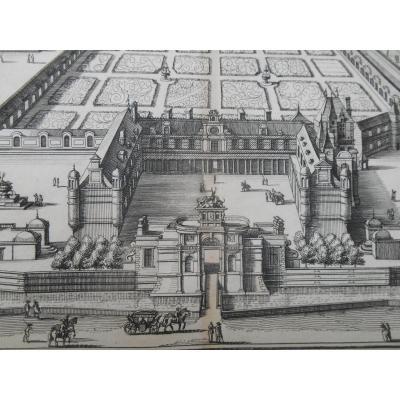 Gravure XVI ème ,Château d'Anet,   Du Cerceau