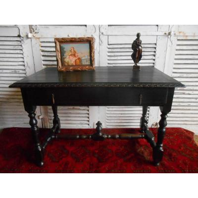 Blackened Wood Desk-table XIX