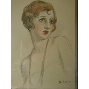 Art Déco. Portrait Snell Olive 1928