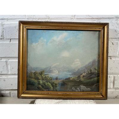 Joseph Navratil (1798-1865), Paysage Montagneeux En Suisse.