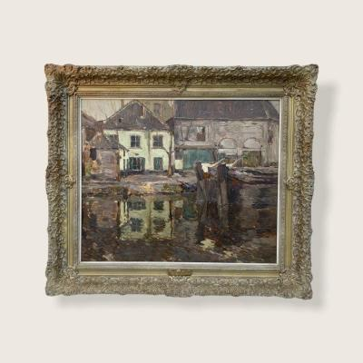 Armand  Apol : Vue De Charleroi Devant Le Canal