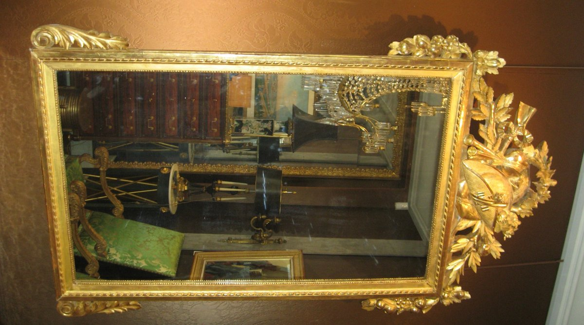 Miroir d'époque Louis XVI-photo-2