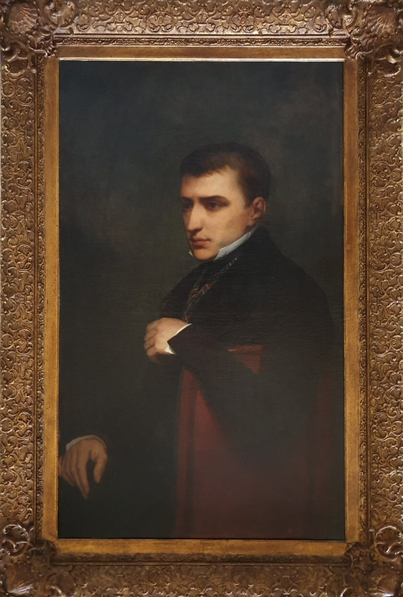 Thoughtful Man Signed Ary Scheffer - 1841