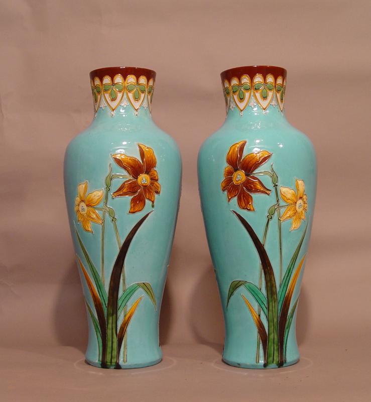Paire De Vases Dans Le Goût De Longwy-photo-2