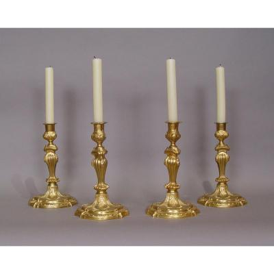 4 Louis XV Period Candlesticks