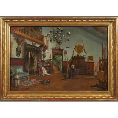 Atelier Du Peintre  Etienne-prosper Berne – Bellecour (1838 – 1910)