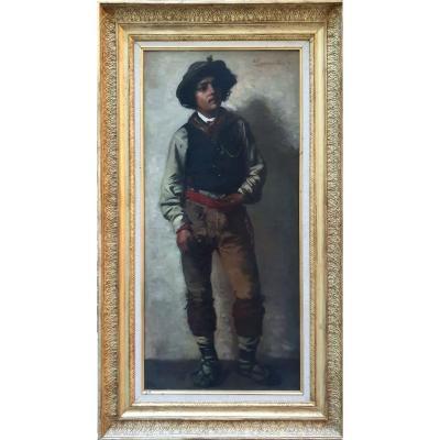 """young Italian Man"" Signed P. Borgmann - Wien - 1874"