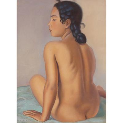 Nude Back Signed René Martin 1933