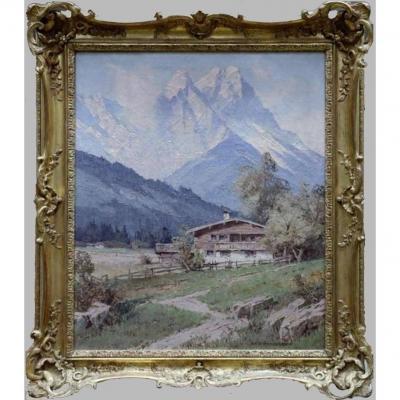 Maison de paysan avec vue sur le Waxensteine