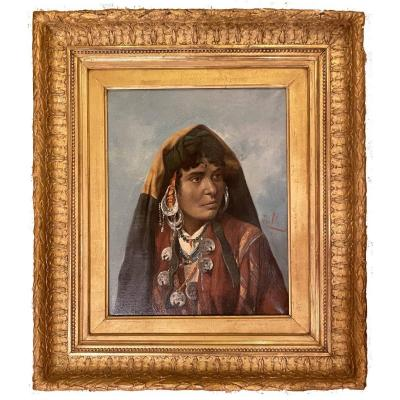 Portraits Of Berber Woman And Man Signed Zullo-1891