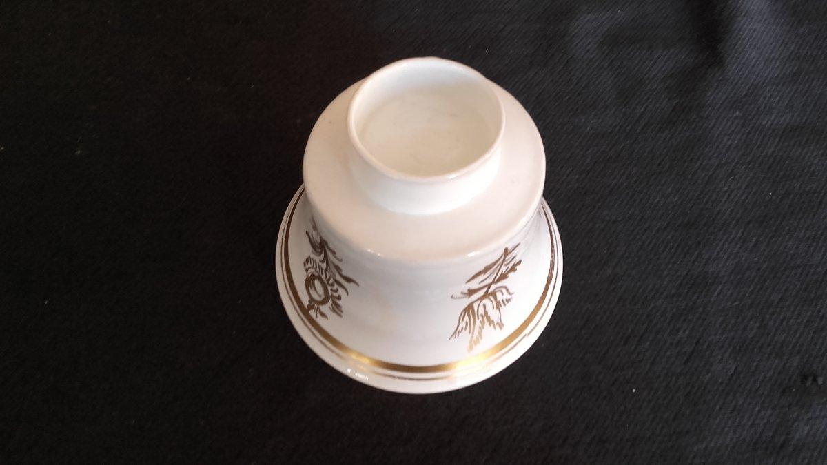 Gobelet Murano Verre Lattimo Décor Doré XVIIIe-photo-2