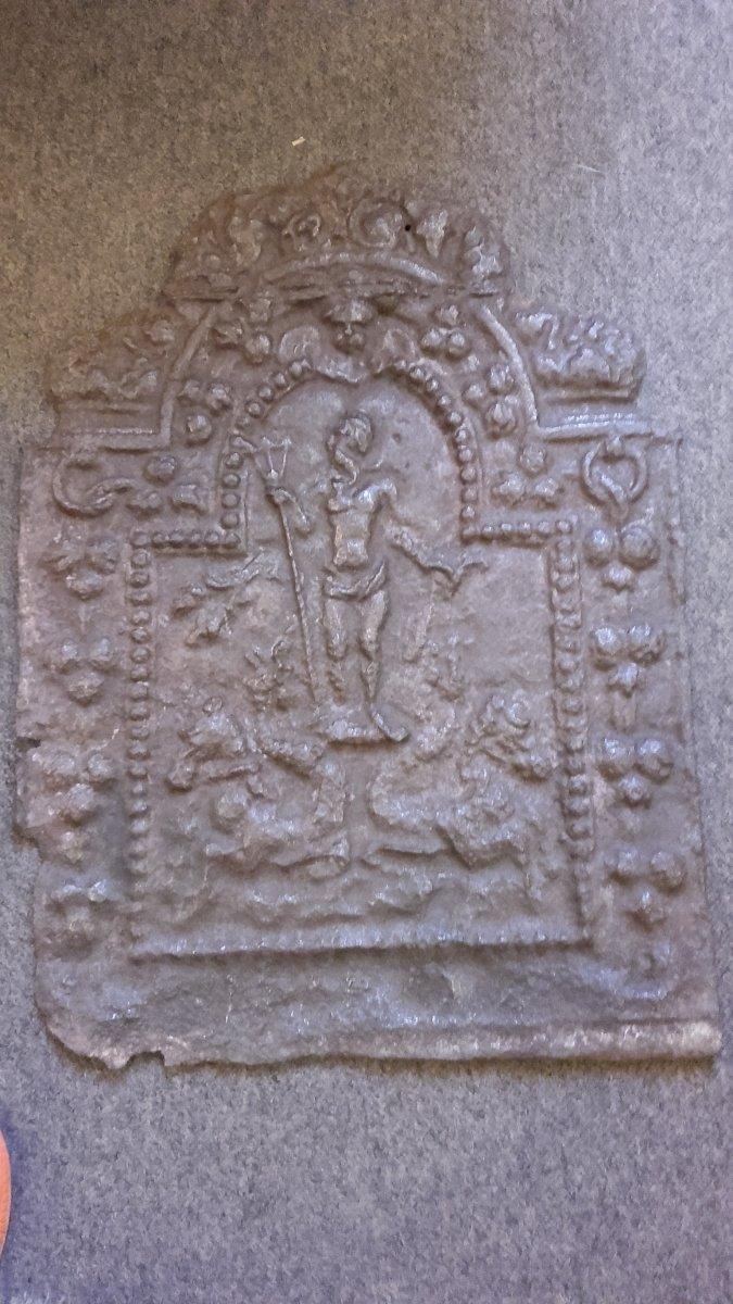 Plaque Cheminée En Fonte Décor Mythologique XVIIe
