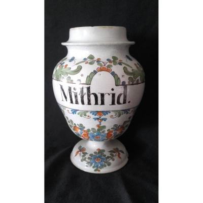 Pharmacy Pot Faience Bordeaux Hustin XVIII