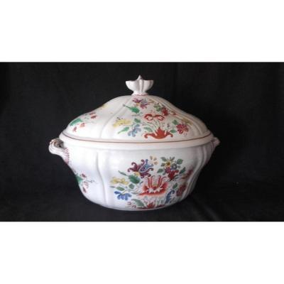 Soupière Porcelaine Doccia Al Tulipano XVIIIe