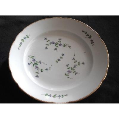 Assiette Verneuilh  Porcelaine De Bordeaux XVIIIe
