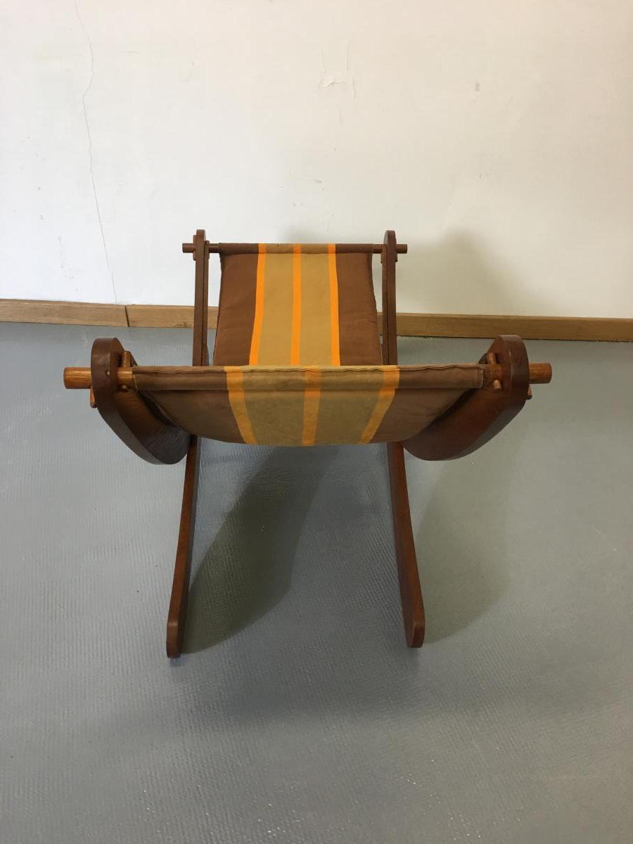 Chaise Longue En Chêne Des Années 1950.-photo-3