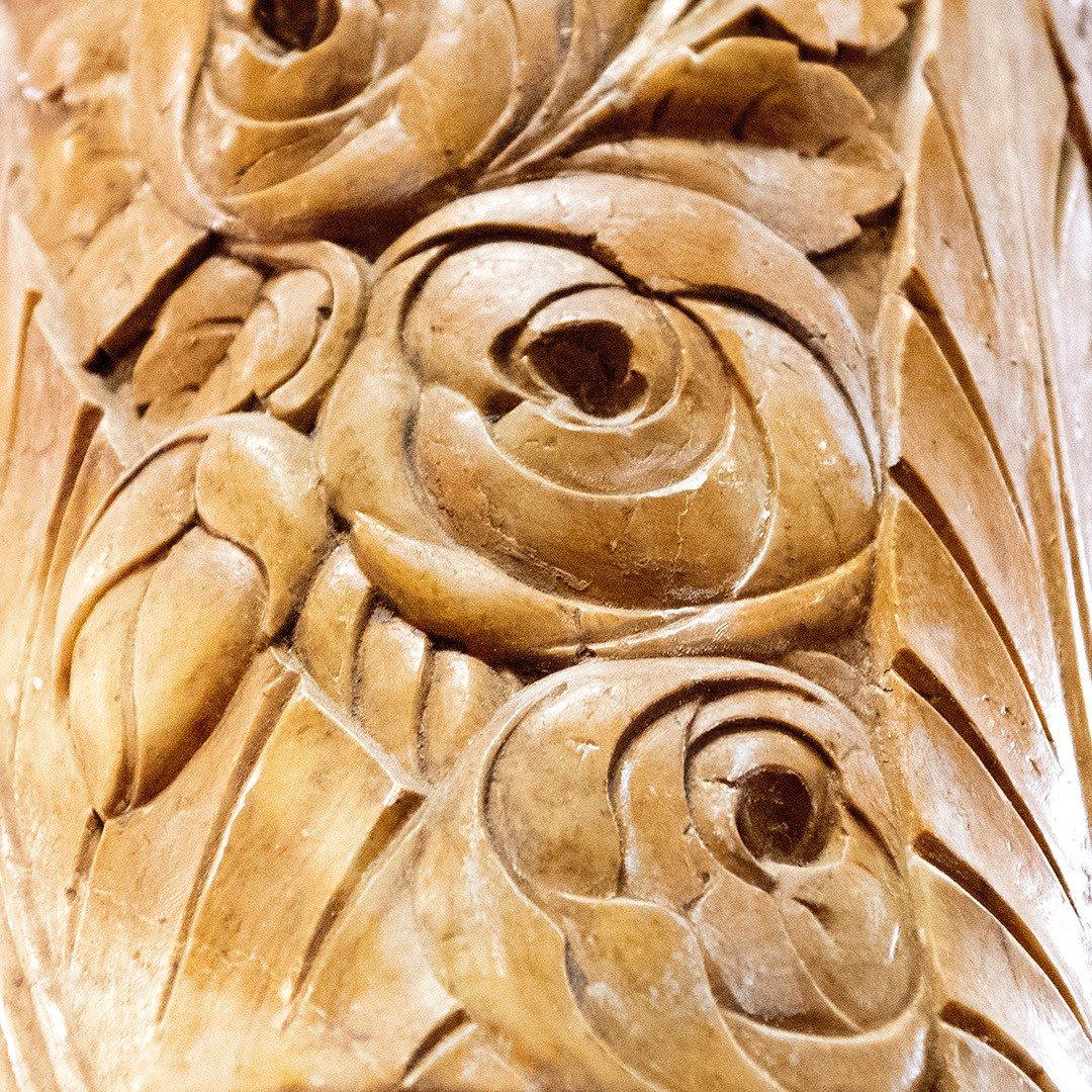 Paire De Colonnes Et Paire De Pilastres En Marbre Période Art Déco-photo-1