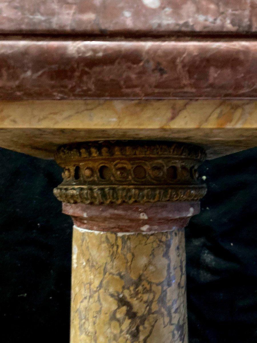 Paire De Colonnes Cylindrique En Marbre - XIX Eme-photo-3