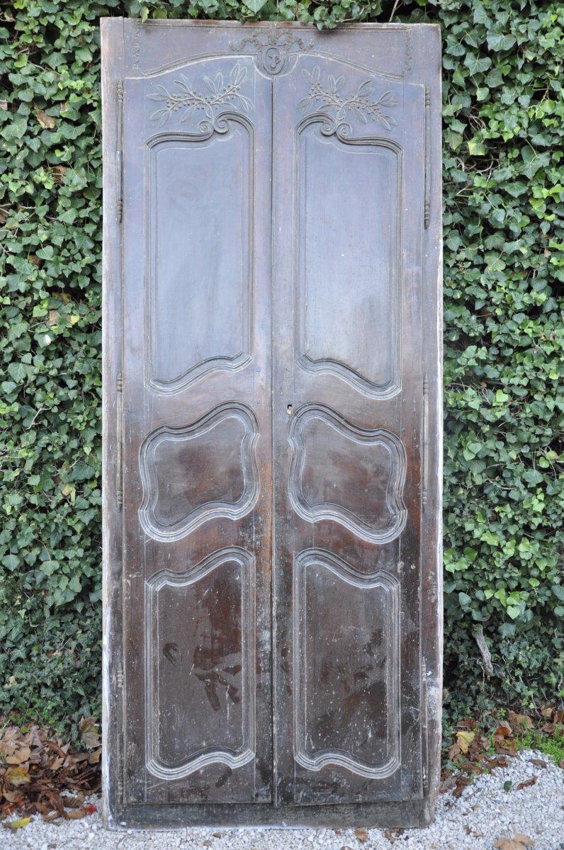 Façade Provençale Portes Anciennes En Noyer