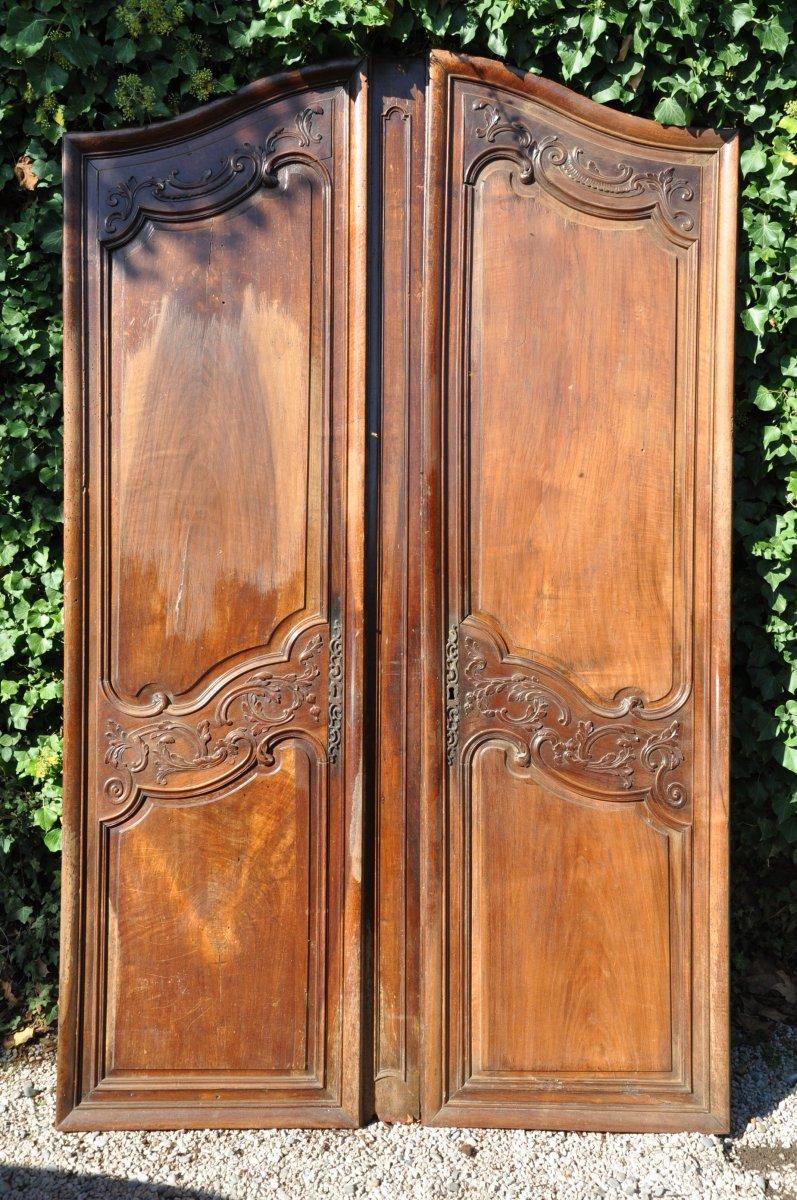 Large Old Doors Facade Woodwork
