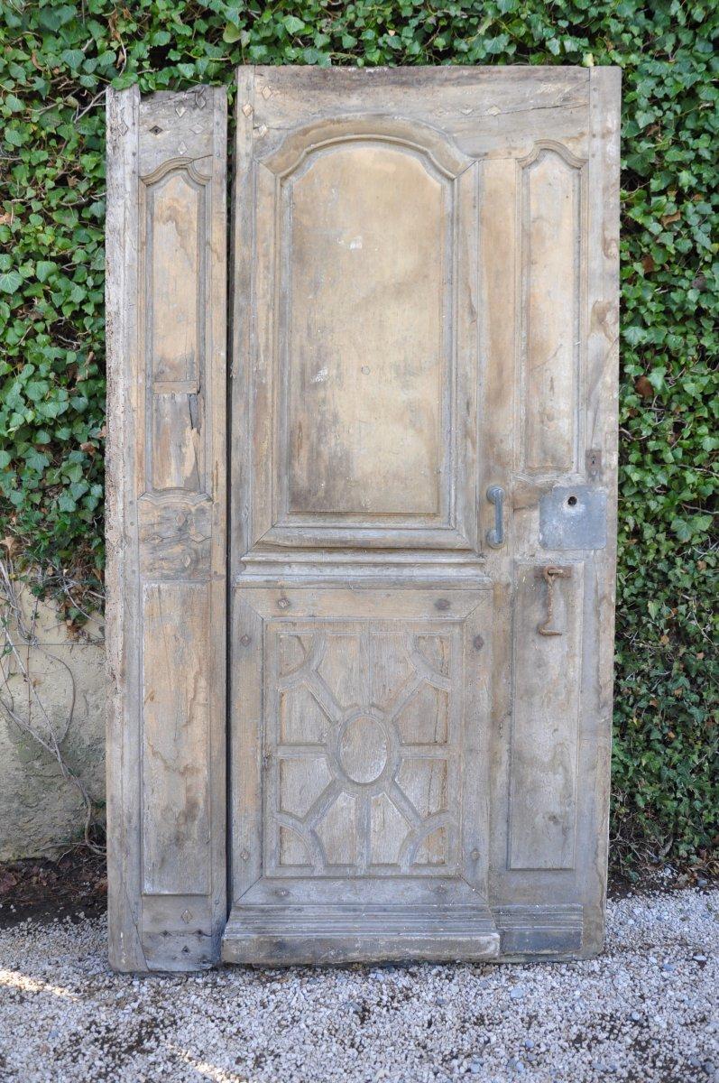Porte D'entrée Ancienne Louis XIV En Noyer