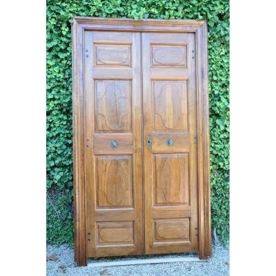 Louis XIV Walnut Communication Door