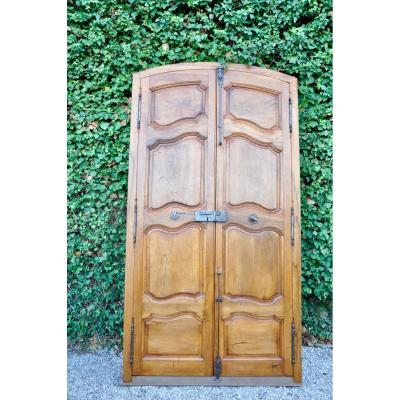 Louis XV Communication Door With Two Walnut Doors XVIII