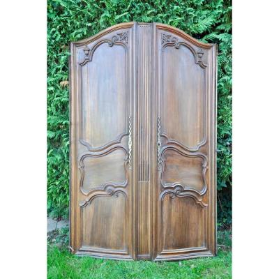 Facade Doors Woodwork Curved Walnut Louis XV
