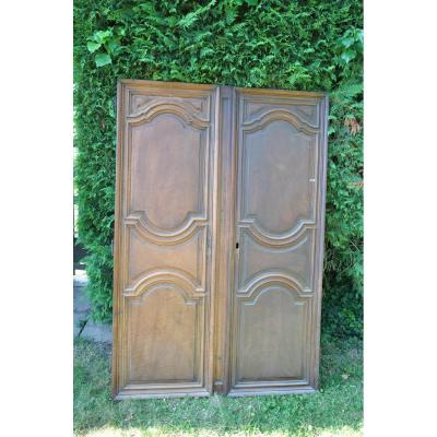Louis XIV Walnut Doors