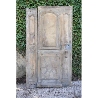 Entrance Door Old Louis XIV In Walnut