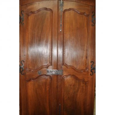 Porte Ancienne De Communication Louis XV En Noyer