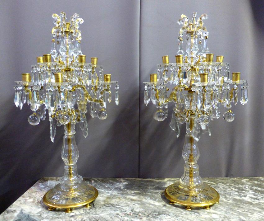 Paire De Girandoles Style Napoléon III