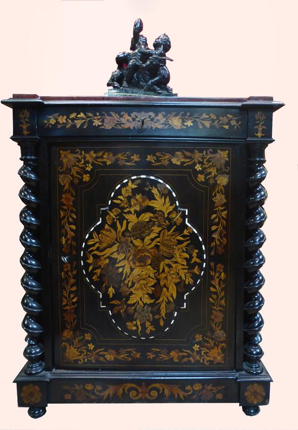 Buffet meuble d'appui marqueté Napoléon III -photo-2