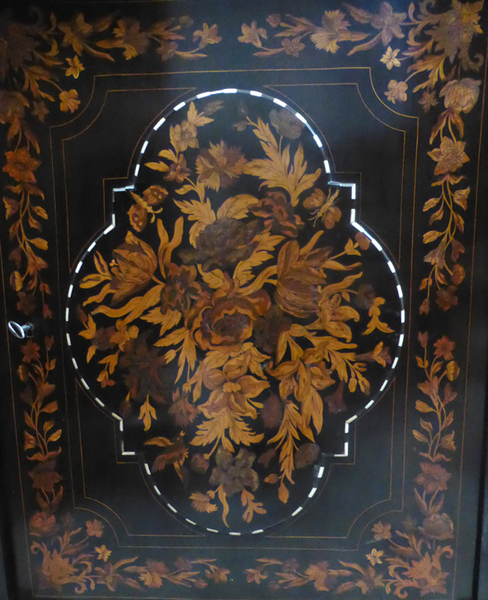Buffet meuble d'appui marqueté Napoléon III -photo-3