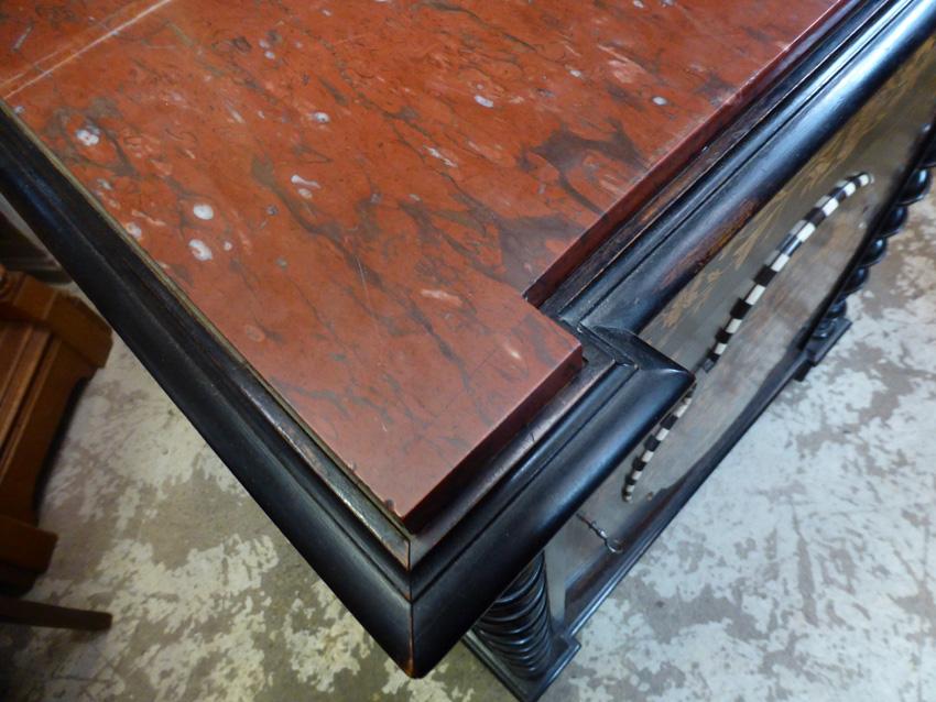 Buffet meuble d'appui marqueté Napoléon III -photo-4