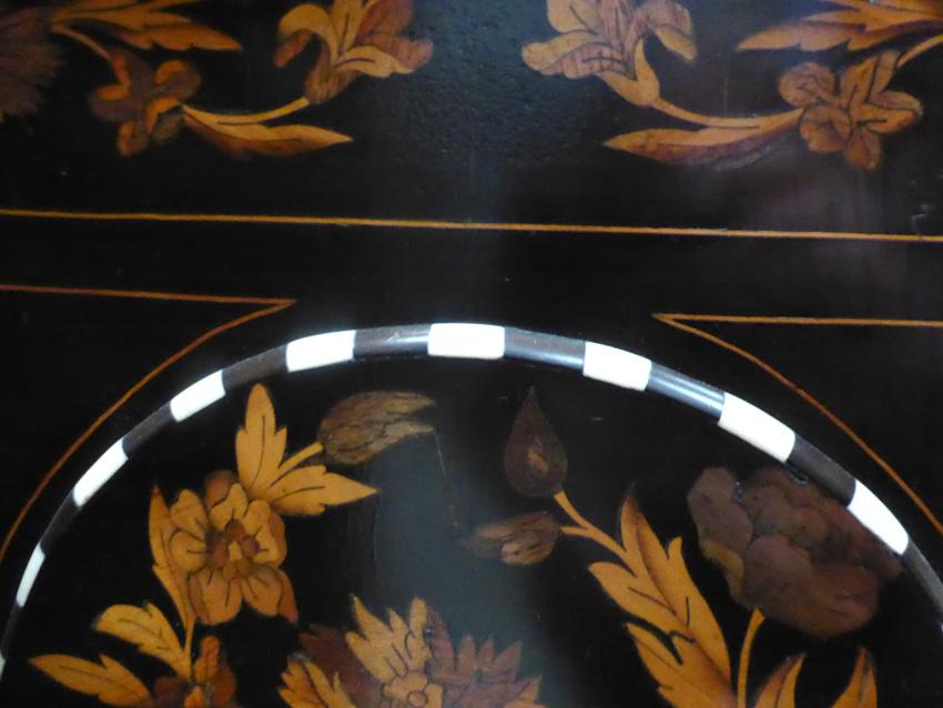 Buffet meuble d'appui marqueté Napoléon III -photo-5